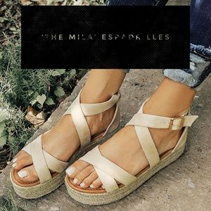 'The Mila' Espadrilles In Birch